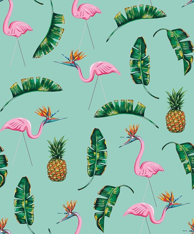 Birds Of Paradise-Turquoise
